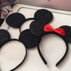 Lot of three Minnie Mickey ear headbands new